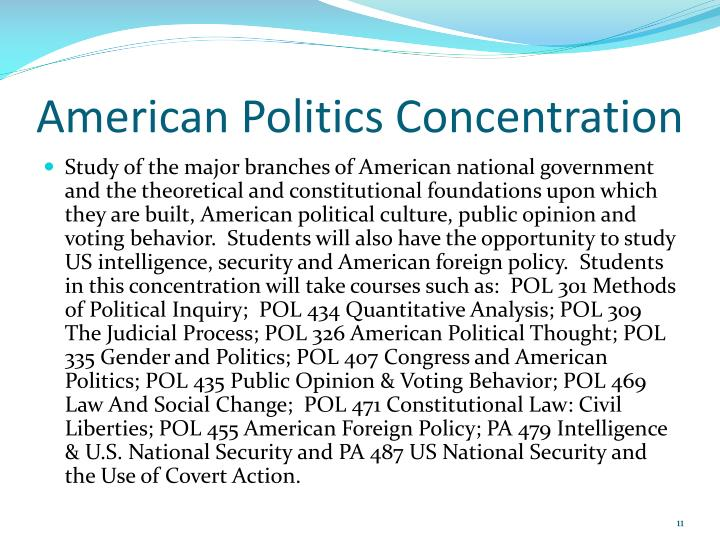 American Politics Concentration