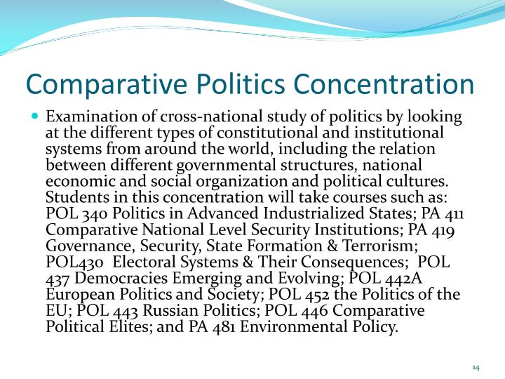 Comparative Politics Concentration