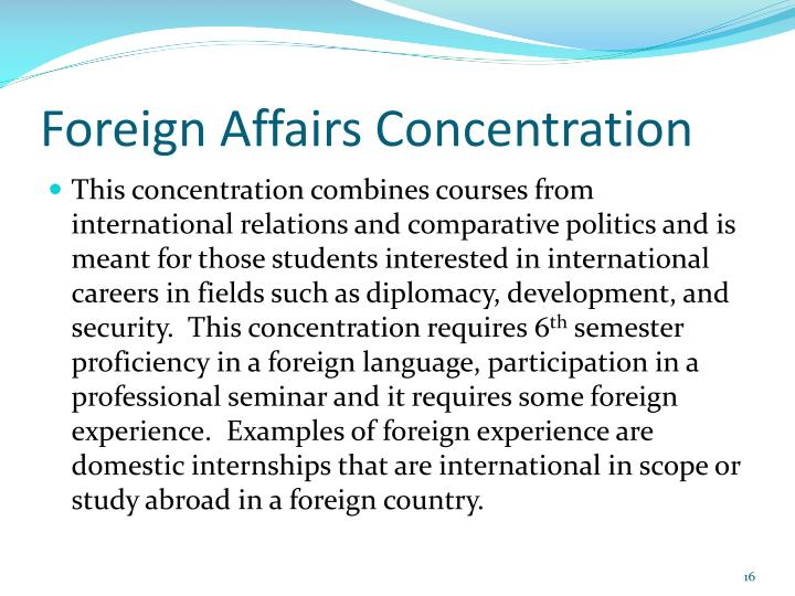 Foreign Affairs Concentration