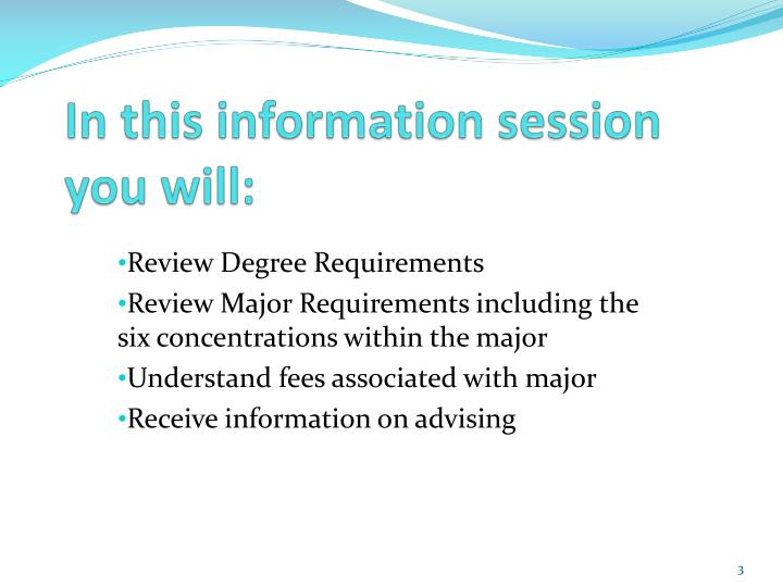 In this information session you will