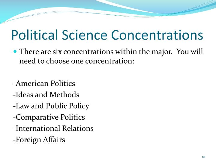 Political Science Concentrations