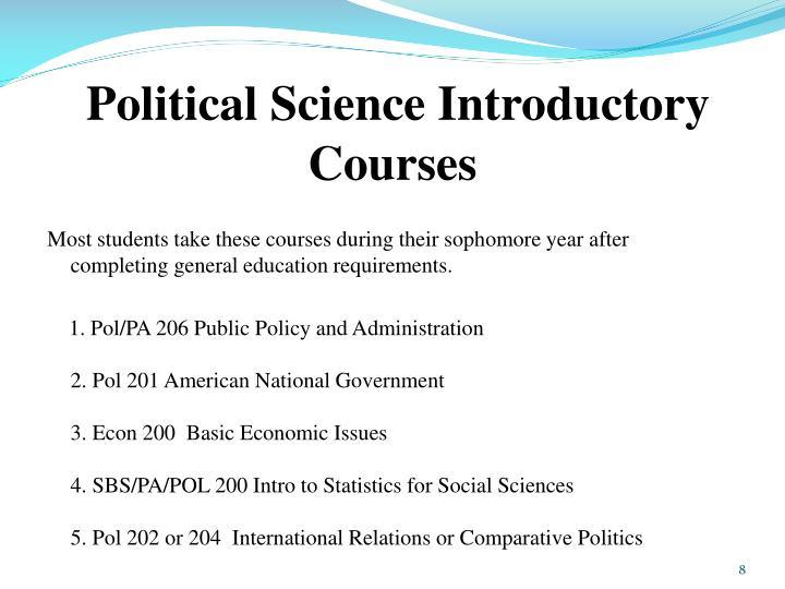 Political Science Introductory Courses