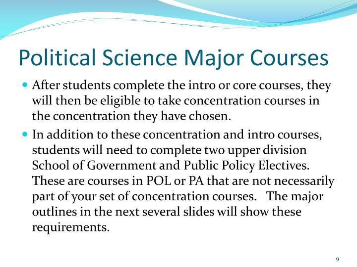 Political Science Major Courses