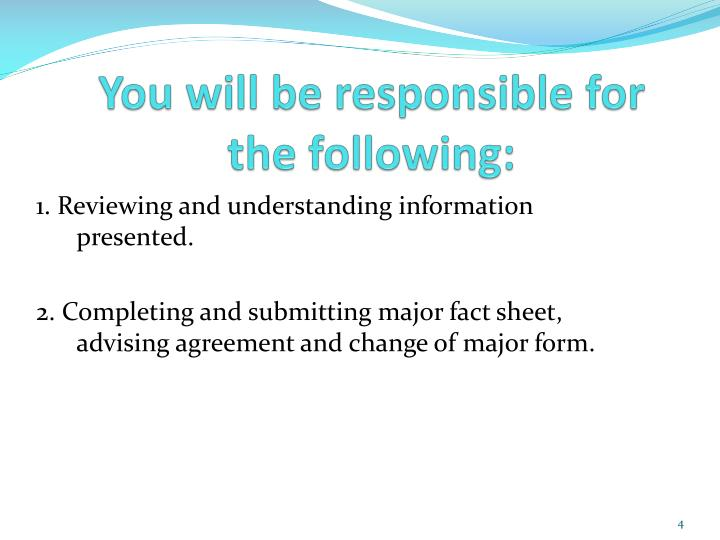 You will be responsible for the following: