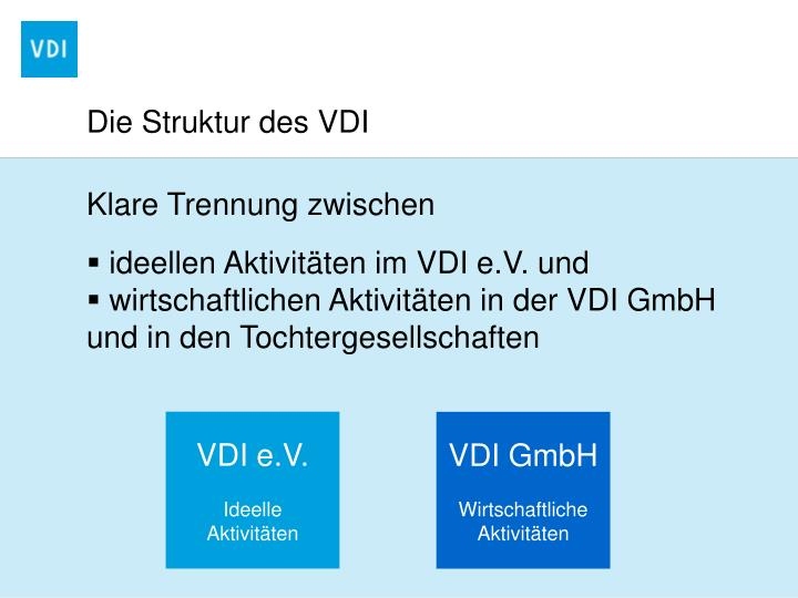 Die Struktur des VDI