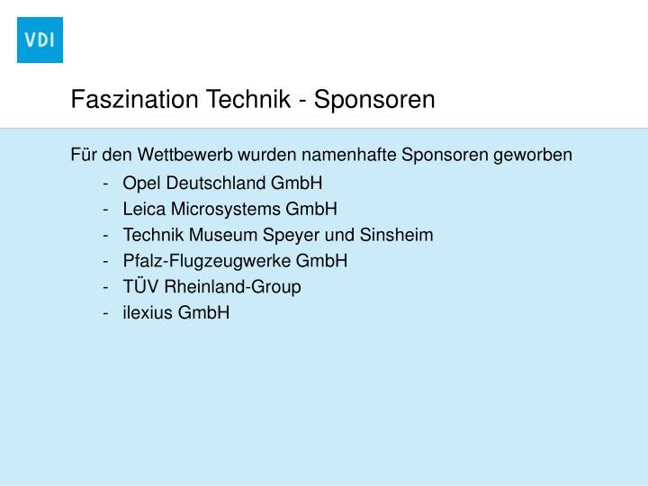 Faszination Technik - Sponsoren