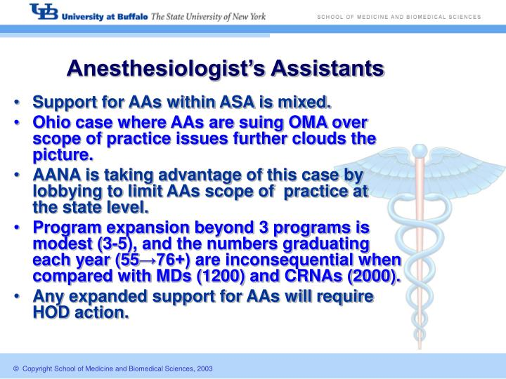 Anesthesiologist's Assistants