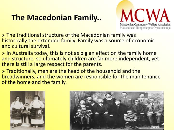 The Macedonian Family..