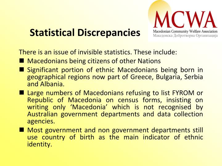 Statistical Discrepancies