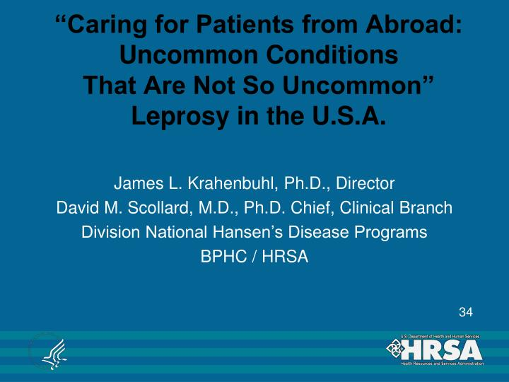 """""""Caring for Patients from Abroad:"""