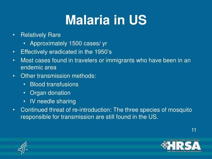 Malaria in US