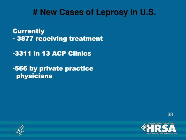 # New Cases of Leprosy in U.S.