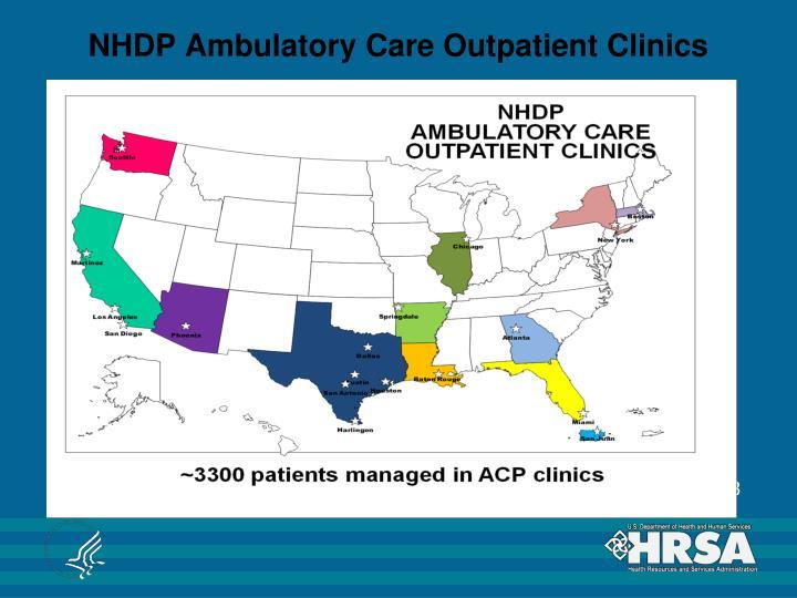 NHDP Ambulatory Care Outpatient Clinics