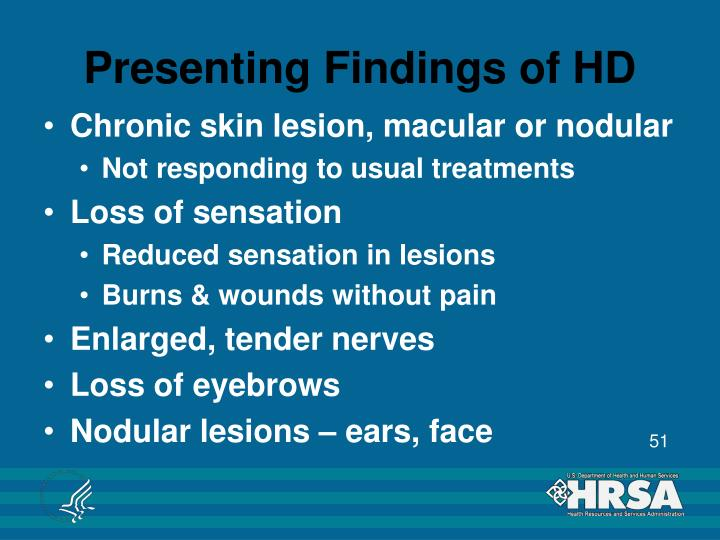 Presenting Findings of HD