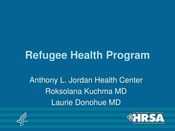 Refugee Health Program