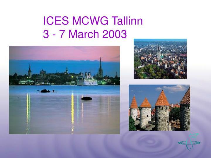 ICES MCWG Tallinn