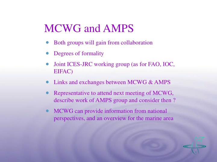 MCWG and AMPS