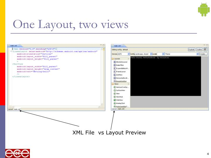 One Layout, two views