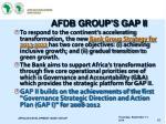 afdb group s gap ii