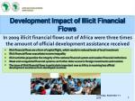 development impact of illicit financial flows
