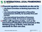 international legal frameworks1