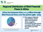 regional distribution of illicit financial flows in africa