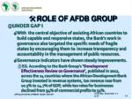 role of afdb group1