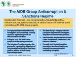 the afdb group anticorruption sanctions regime
