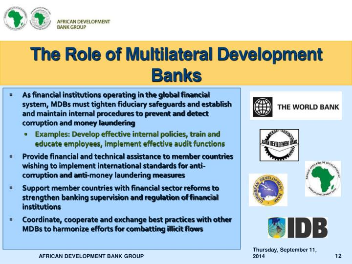 The Role of Multilateral Development Banks
