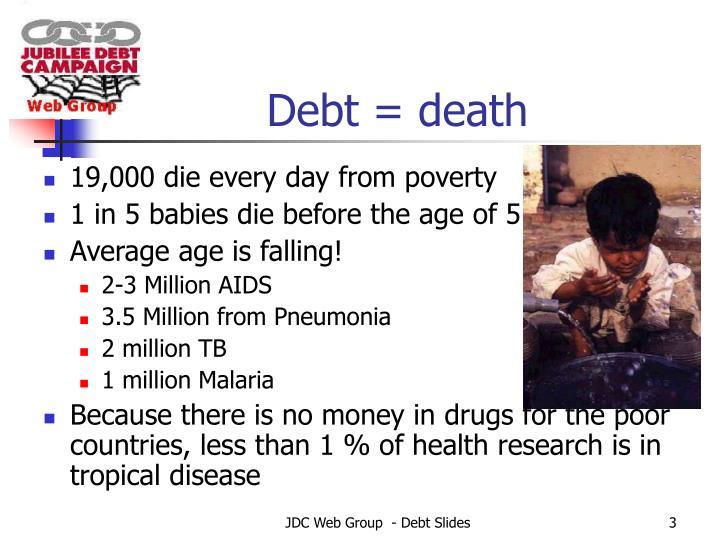 Debt = death