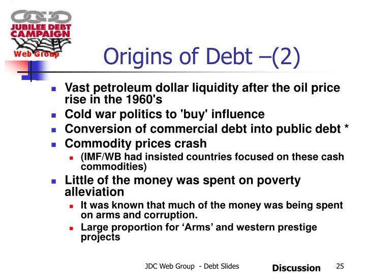 Origins of Debt –(2)