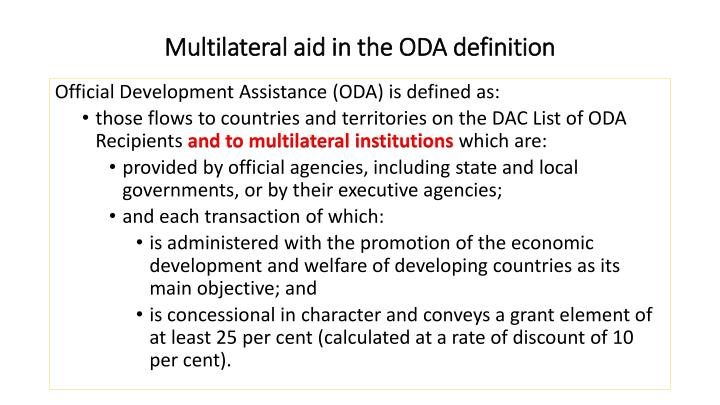 Multilateral aid in the ODA definition