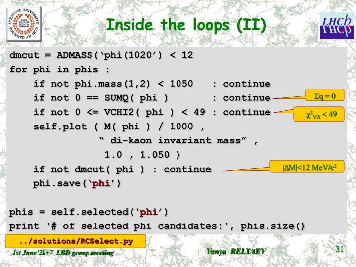Inside the loops (II)
