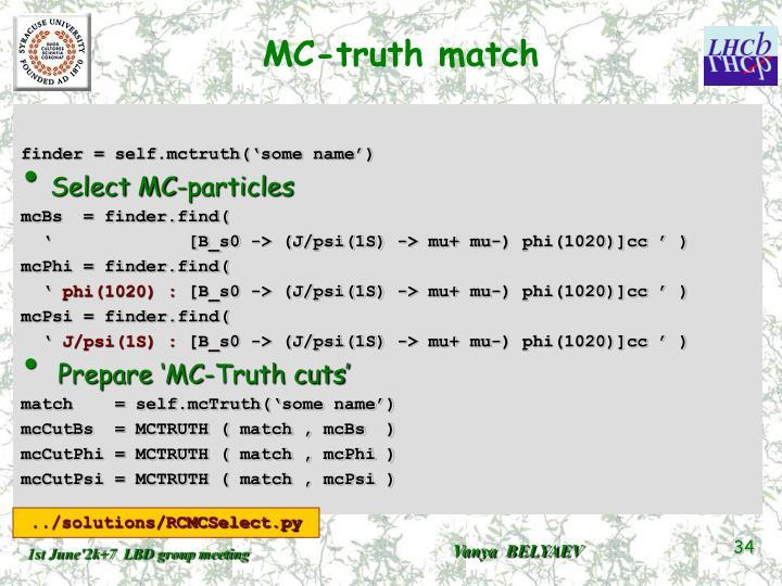 MC-truth match