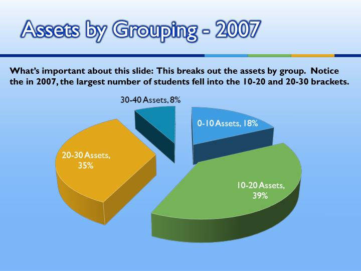 Assets by Grouping - 2007