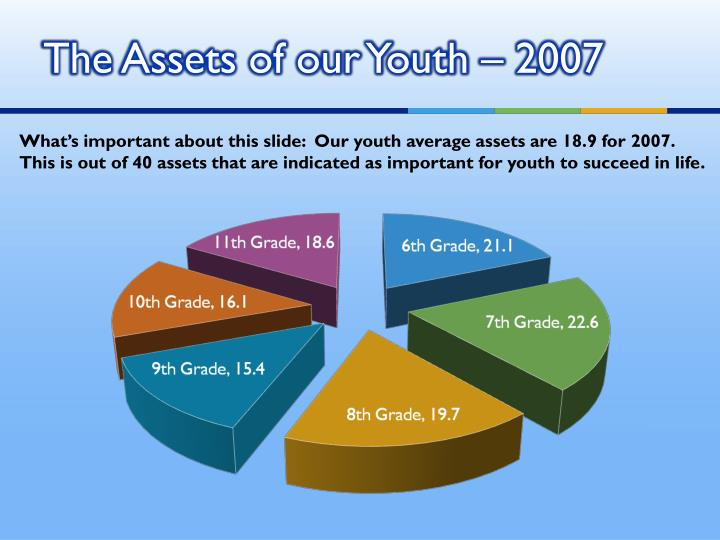 The Assets of our Youth – 2007