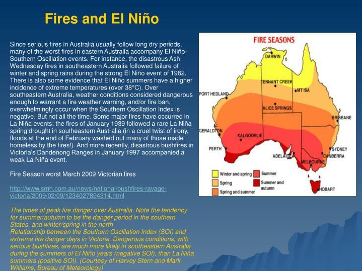 Fires and El Niño