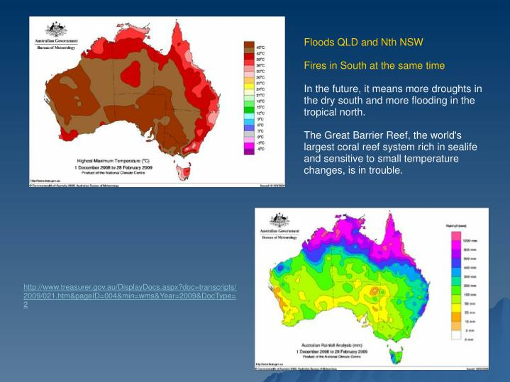 Floods QLD and Nth NSW