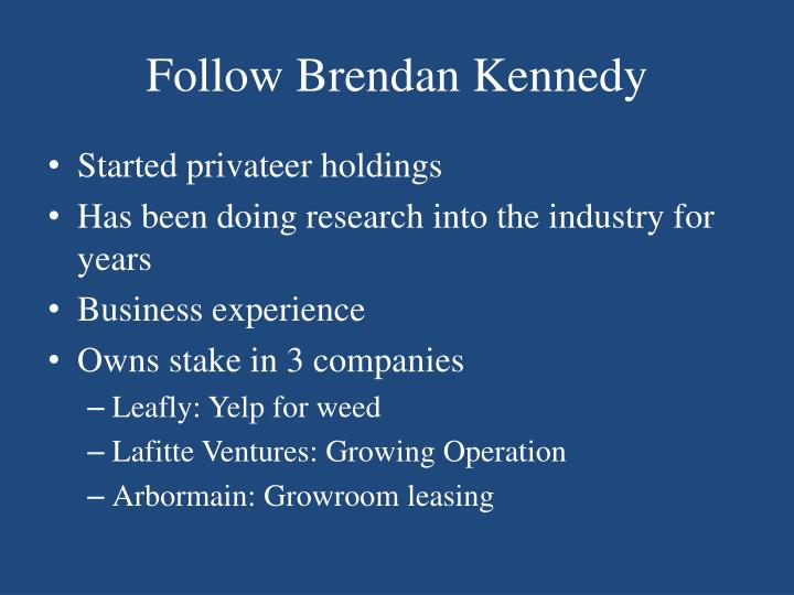 Follow Brendan Kennedy
