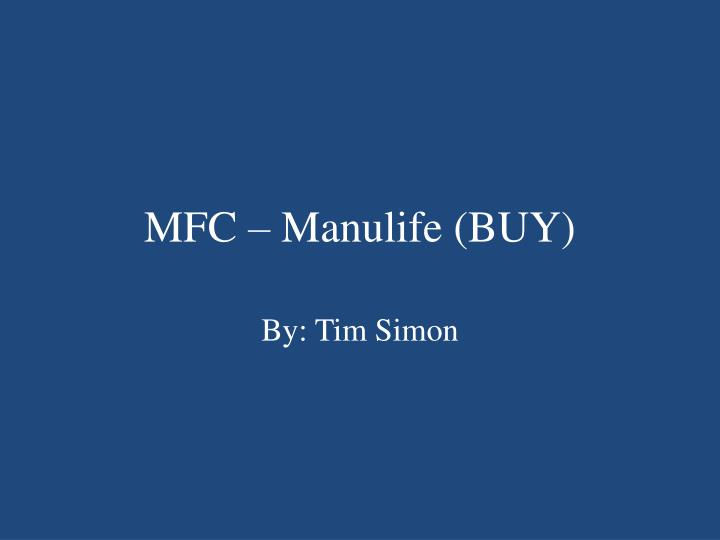 MFC – Manulife (BUY)