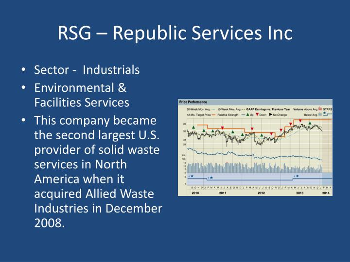 RSG – Republic Services Inc