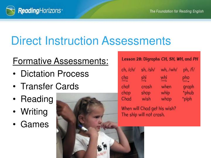 Direct Instruction Assessments