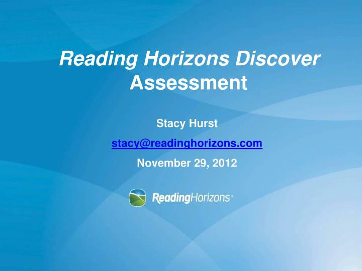 Reading Horizons Discover