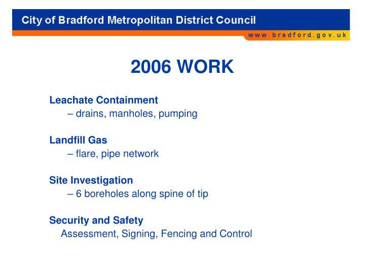 2006 WORK