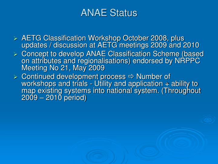 ANAE Status