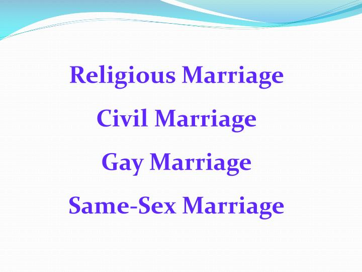 Religious Marriage