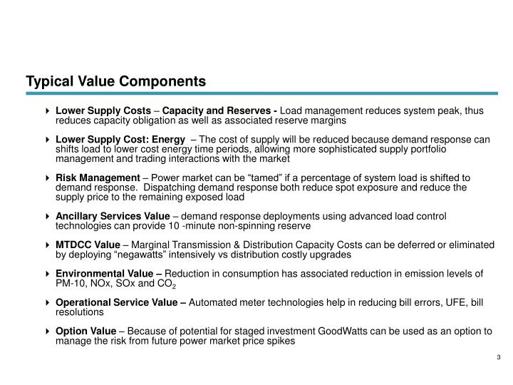 Typical Value Components
