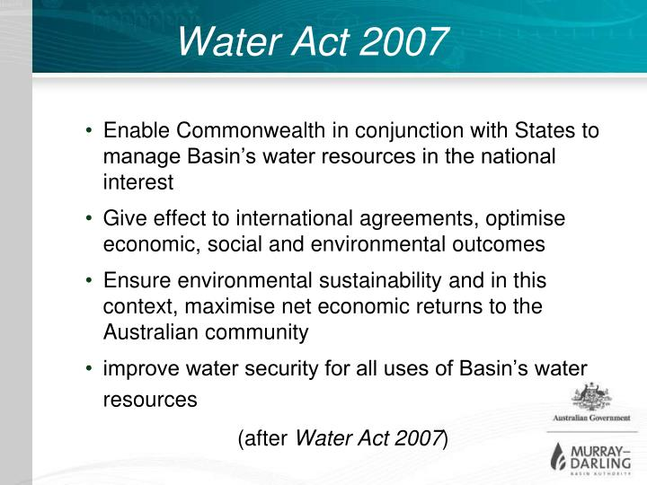Water Act 2007