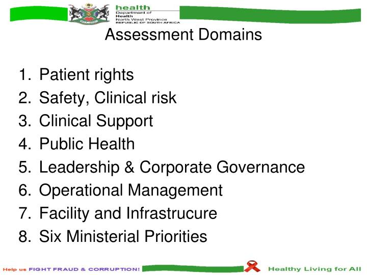 Assessment Domains