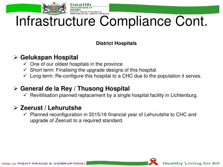 Infrastructure Compliance Cont.
